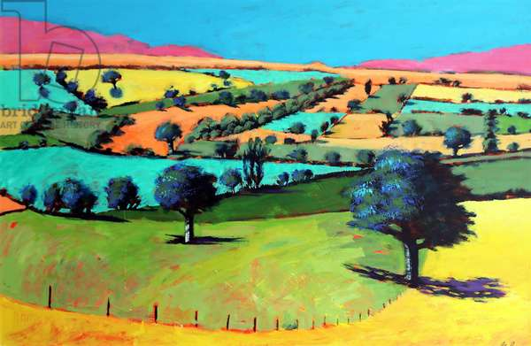 Coombe (acrylic on board)
