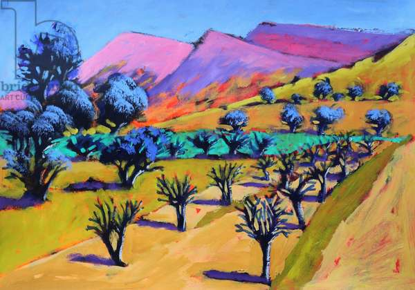 Provence, 2021 (acrylic on paper)