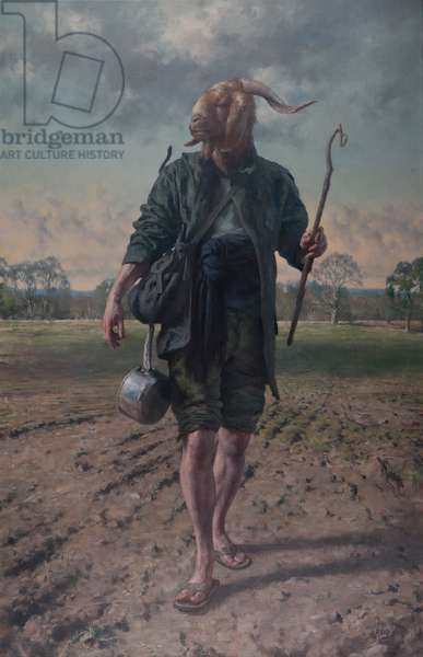 Pan as Wanderer, 2015 (oil on canvas)