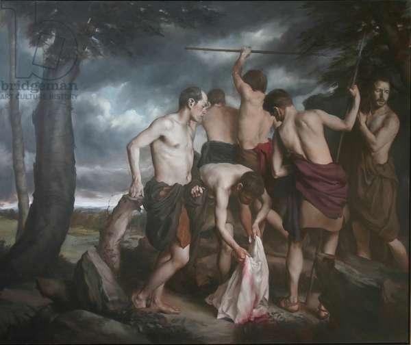 The Death of Actaeon, 1998 (oil on canvas)