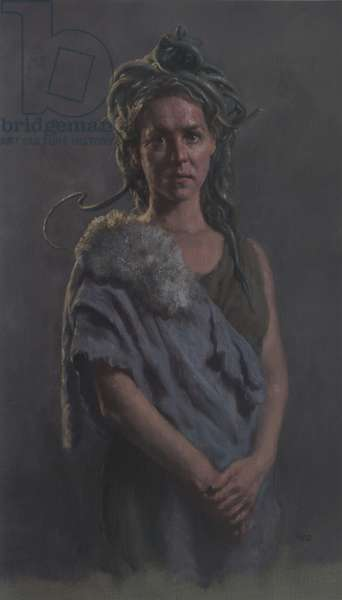 Medusa, 2013 (oil on canvas paper)