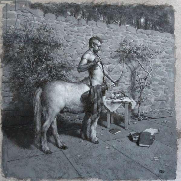 Preparatory study for Centaur, 2013 (acrylic on board)
