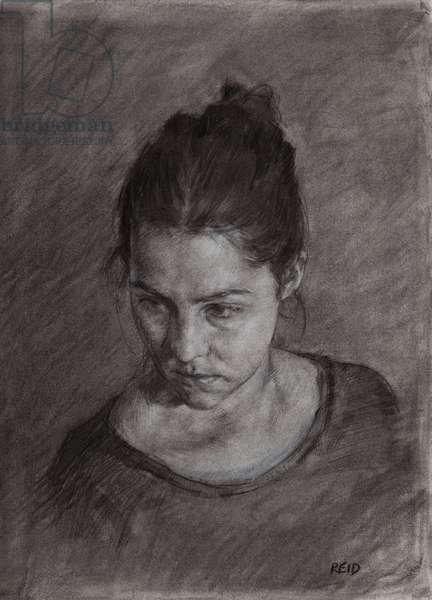 Heather Portrait Study, 2015 (charcoal)