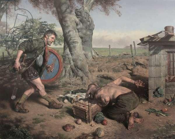 Odysseus on the Island of Circe, 2017 (oil on canvas)