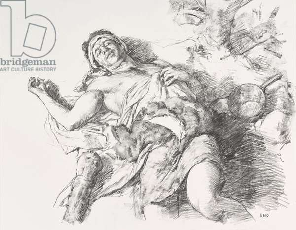 Sleeping Giant Study, 2016 (charcoal on paper)