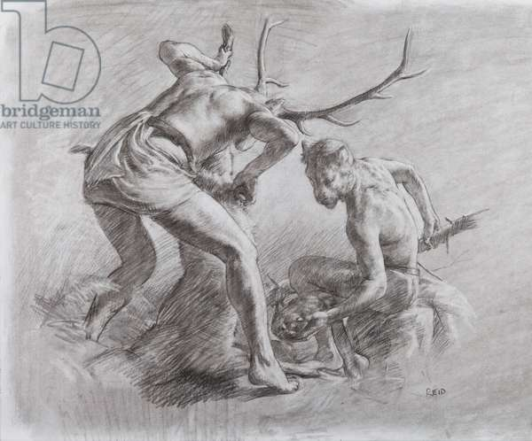 After the Hunt, 2012 (charcoal on board)