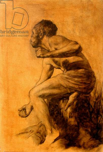 Ape Man, 2006 (oil on paper)