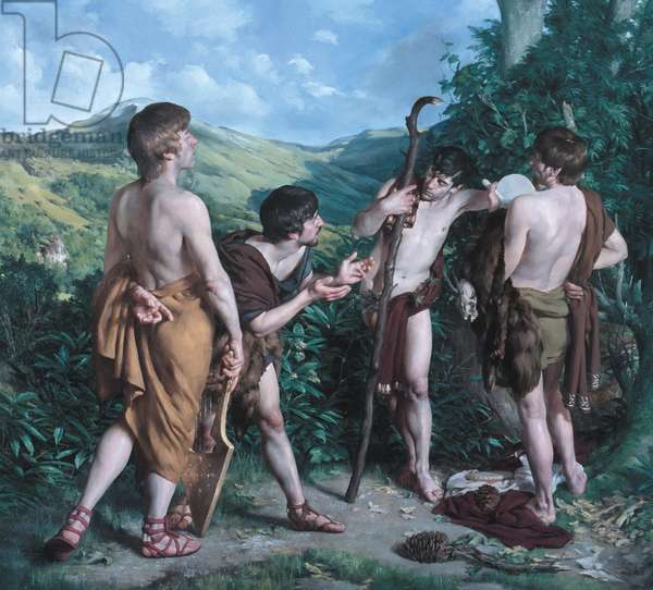 Apollo and Pan, 2003 (oil on canvas)