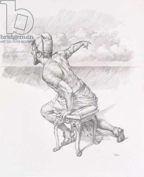 Odysseus Study, 2016 (pencil on paper)