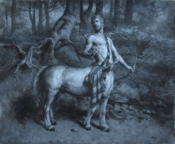 Centaur, 2014 (acrylic on paper)