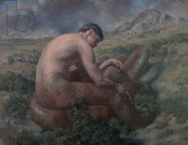 Typhon Sleeping, 2015 (oil on canvas paper)