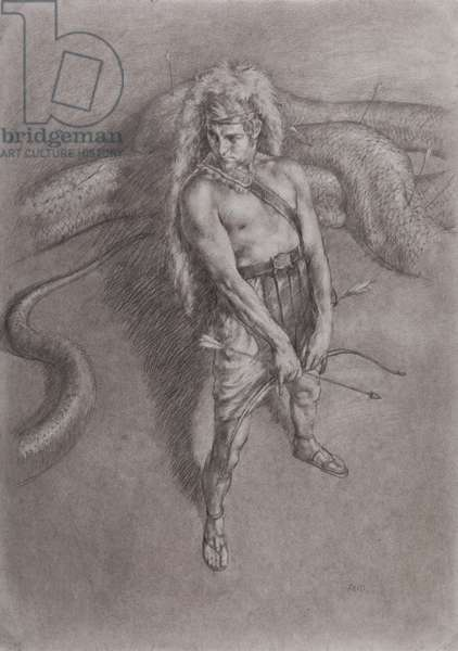 Study for Apollo and Python, 2014 (charcoal & chalk on paper)