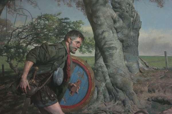 Odysseus on the Island of Circe, Odysseus Detail, 2017