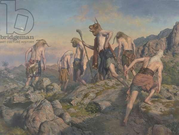 Minotaurs, 2016 (oil on canvas)