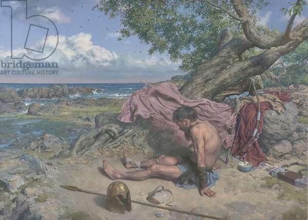 Philoctetes, 2017 (oil on canvas)
