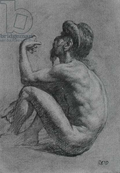 Satyr, 2006 (charcoal on paper)