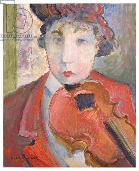 The Little Violin (oil on board)