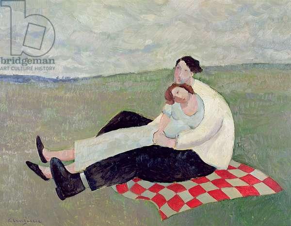 Lovers in a Landscape, 2007 (oil)