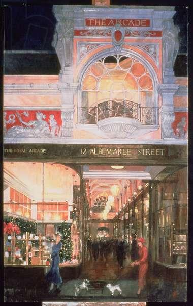 The Royal Arcade at 12 Albemarle Street, 1996 (oil on gesso prepared board)