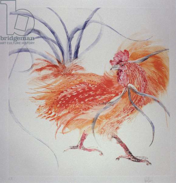 Flamboyant Cockerel, 2002 (monoprint)