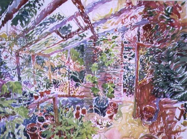 Green house Interior, 1994 (w/c on paper)