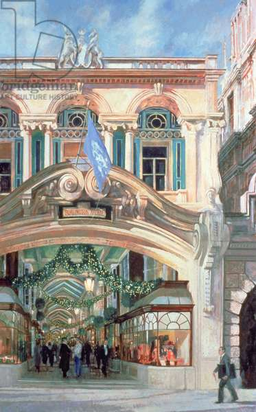 The Burlington Arcade, 1996 (oil on gesso prepared board)