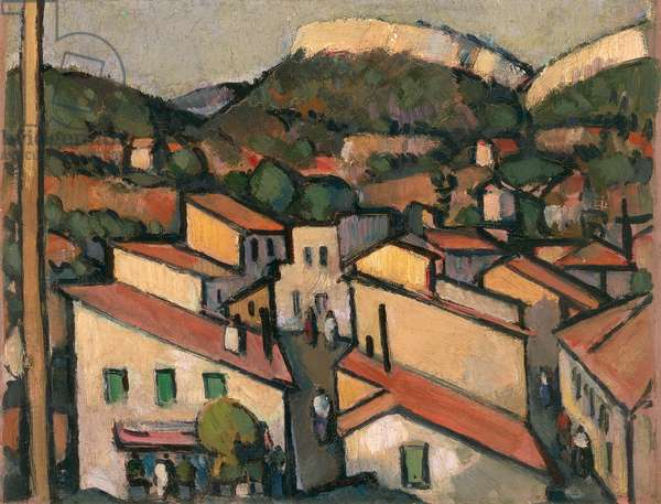 Cassis from the West, 1913 (oil paint on board)