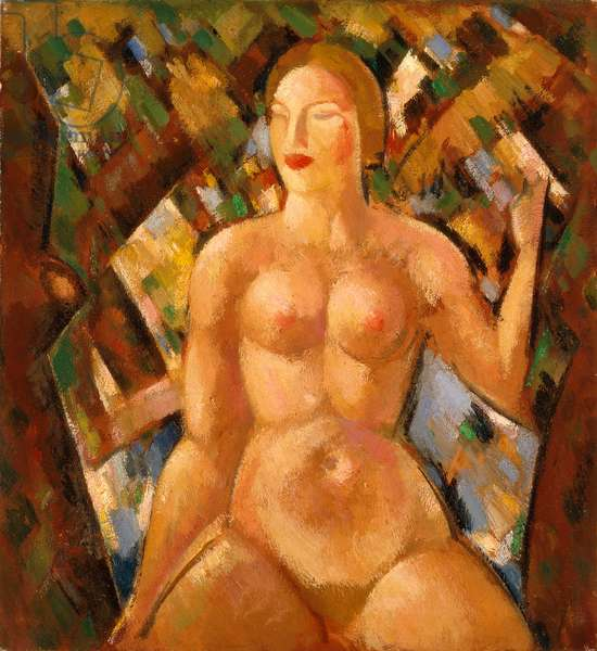 Seated Nude Among Trees, 1928 (oil paint on canvas)