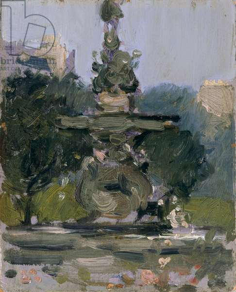 Ross Fountain, Princes Street Gardens (oil on board)