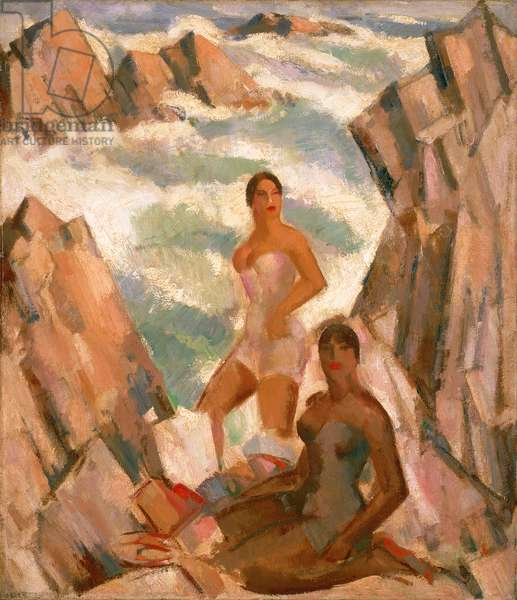 Bathers, the Breeze, 1923 (oil paint on canvas)