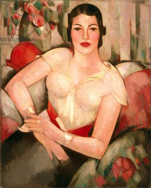 The Red Hat, Bobbie, 1933 (oil on canvas)