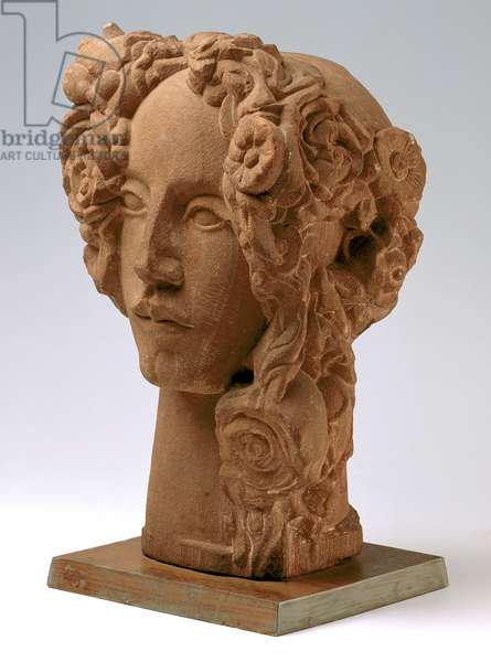 Summer, Head of Woman, 1916 (red sandstone)