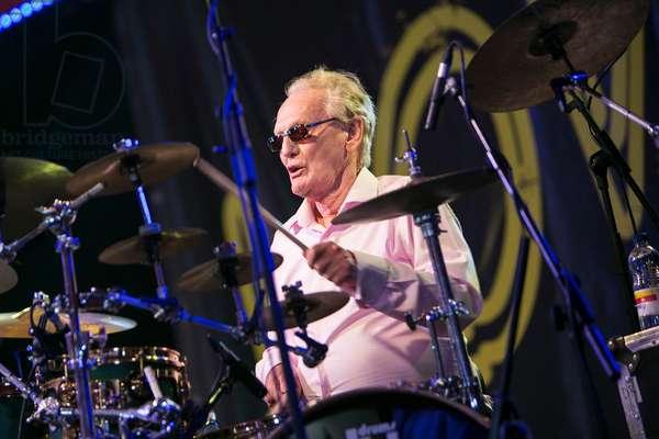 Ginger Baker at the Love Supreme Jazz Festival, Glynde, 2015 (photo)