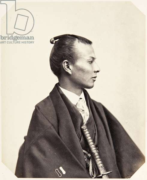 Portrait of a twenty–seven–year–old Japanese man named Yamanouchi Rokusaburō, a samurai and officer on the 1864 Ikeda mission to France, employed as an interpreter of English, 1864 (albumen print)