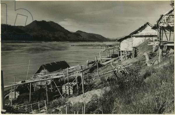 City river, Mekong River, Luang Prabang, Laos, 1937 (bromide print)