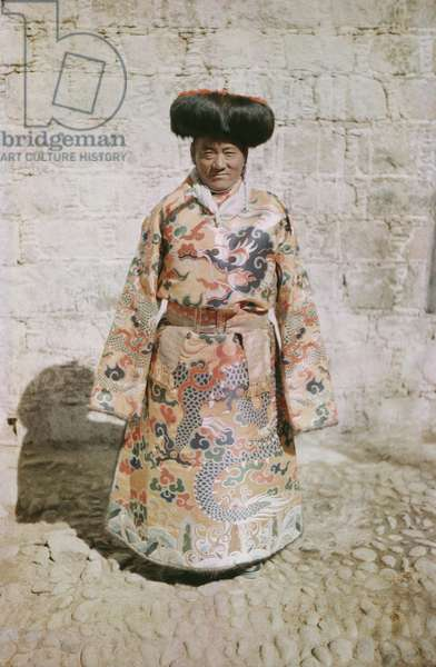 Tsarong wearing ceremonial dress at New Year, Lhasa, Tibet, 12th February 1937 (colour transparency)