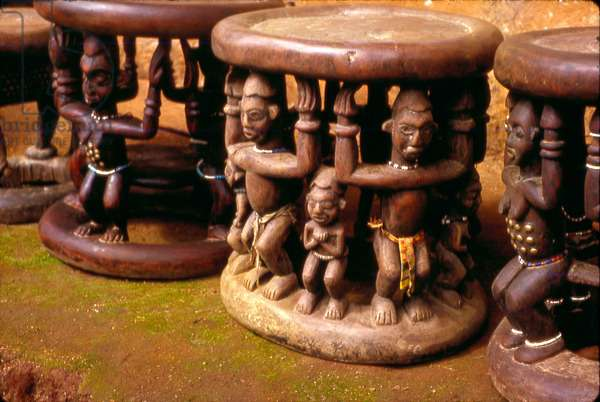 Royal Stools, Cameroon, 1963 (transparency kodachrome)