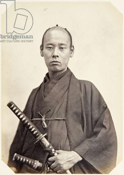 Portrait of a twenty–three–year–old Japanese man named Seki Shinpachi, a samurai and officer on the 1864 Ikeda mission to France, employed as an interpreter of English, 1864 (albumen print)