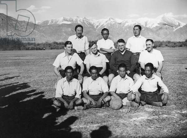 The British Mission football team, 20th October 1936 (gelatin silver print)