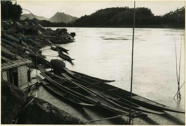 Mekong River at Louangphrabang, Laos, 1937 (bromide print)