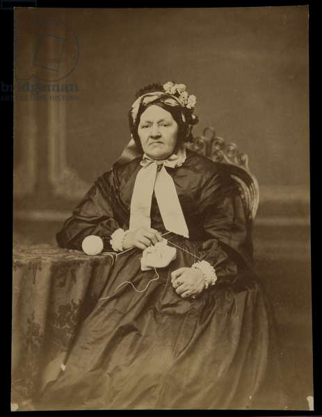 Portrait of an Old Lady, before 1879 (albumen print)