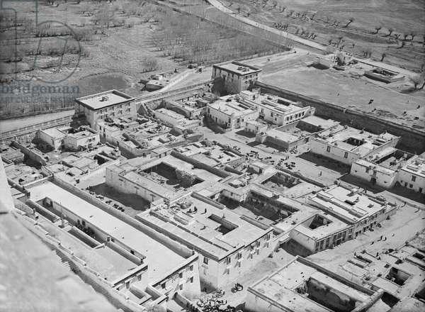 Lhasa and Sho village taken from the Potala, Lhasa, Tibet, 6th September 1936 (b/w photo)
