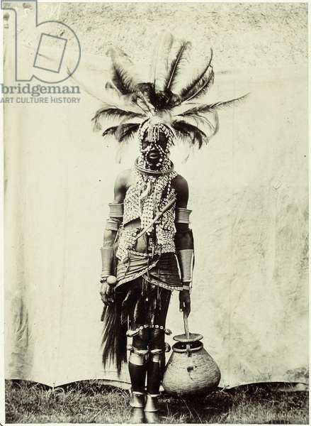 Portrait of a Man from Nyanza Province, Kenya, c.1902 (silver gelatin print)
