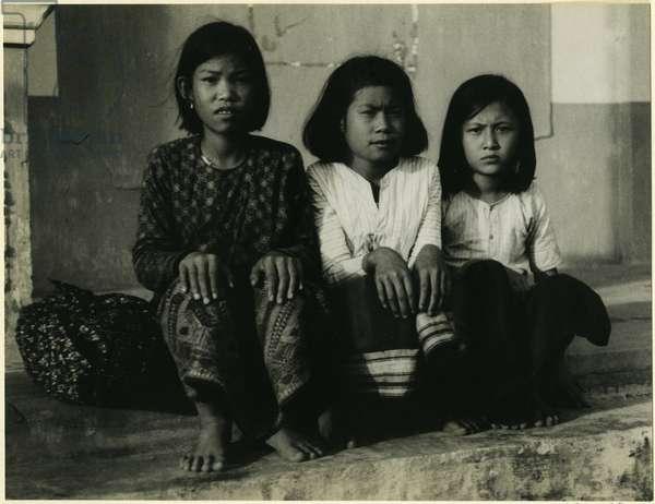 Group of children, Xiangkhoang, Laos, 1937 (bromide print)