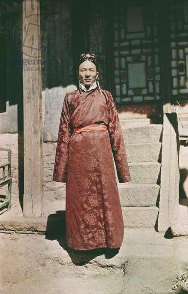 The Prime Minister, Yapshi Lungdun, Lhasa, Tibet, 29th January 1937 (colour transparency)