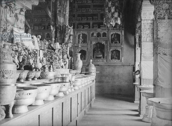 Part of the Potala showing the lower part of the 13th Dalai Lama's tomb, Lhasas, Tibet, 6th September 1936 (gelatin silver print)