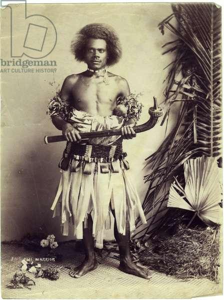A Fijian Warrior, c.1880 (albumen print)