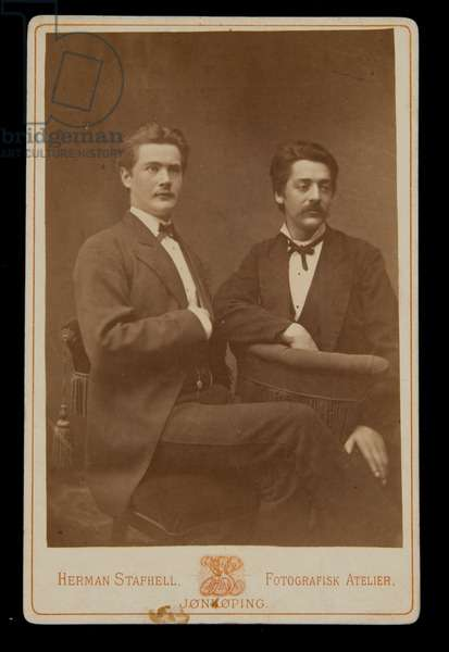 Cabinet Card Portrait of Two Men, before 1879 (albumen print)