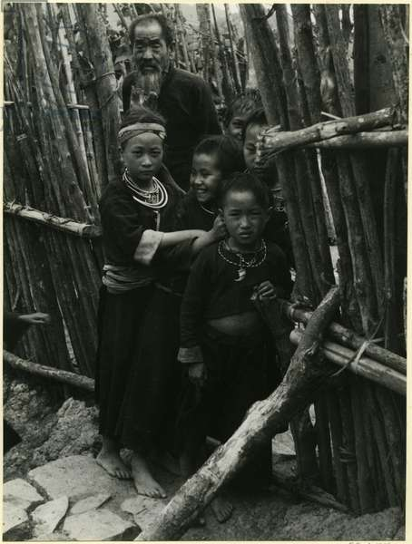 Miao family, on the road between Xiangkhoang, Laos, and Vinh, Vietnam, 1937 (bromide print)