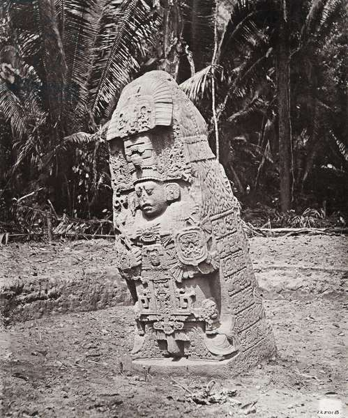 'Stela K', Quirigua, Izabal department, Guatemala, Late Classic period, AD 805 (platinum print)